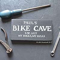 Personalised Bike Cave Wooden Sign | Motorbike | Shed | Est. Year | Plaque | My Bike My Rules | Father's Day | Grandad | Gift | Husband | Dad | Daddy | Present | Garage
