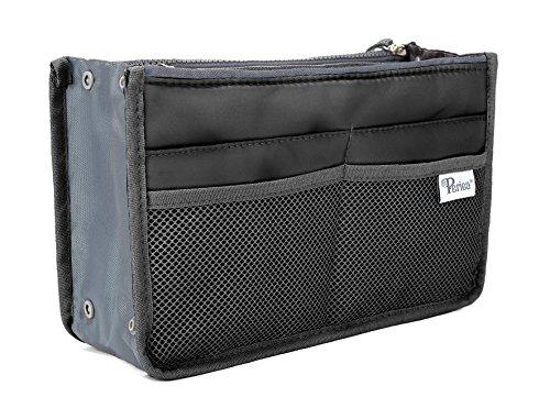 Periea Handtaschen-Organiser Geldbeutel-Einsatz 12 Fächer - Chelsy (Schwarz, M)