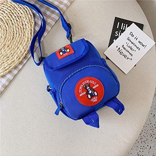 Kindertasche, Schultertasche Süße Bär Multi-Purpose Kleine Rucksack Jungen Und Mädchen Schüler Tasche Hochwertige Kinder Tasche Schule, Unisex blau -
