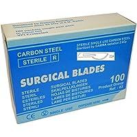100 cuchillas quirúrgicas, fig. 22A. Scalpel Blades sterile, Lames des bistouris steriles, Hojas de bisturíes estériles, Lame da bisturi sterili