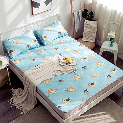OUDA.ach Cartoon Summer Cooling Matratze Schutzhülle, Waschbar, Schlafmatte und Kissenbezüge, Twin, Full, Königin, König -