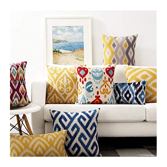 AEROHAVENTM Set of 5 Cotton Throw Pillow/Cushion Covers - AHV-CC-143