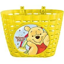 Disney Winnie Puuh Fahrradkorb für Kinderfahrräder mit 2 Laschen, Gelb, 35052