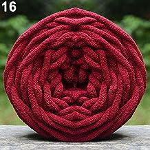 Paño de lana gruesa para tejer bufandas suaves DIY rojo vino