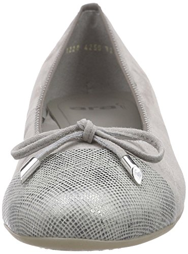 Ara Bari, Damen Geschlossene Ballerinas Grau (grigio/chiara 11)
