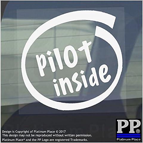 1 x Pilot Inside-Window,Car,Van,Sticker,Sign,Vehicle,Sky,Plane,Air,Craft,Travel,Pit,Jets,Jet,Captain,Co Pilot,Passenger