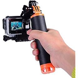 Suptig - Kit de bras télescopique avec déclencheur et boîtier étanche pour GoPro Hero 5,Hero 4,Hero 3+,Hero 3 LCD, Yi Action, Yi 4K, Yi 4K+ Action et caméras SJCAM
