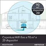 Netgear R6700 Nighthawk Smart WiFi Router con Velocità Wireless AC1750 fino a 1750 Mbps, copertura fino a 90 m² e 20 Dispositivi, 4 Porte Ethernet 1G e 1 Porta USB 3.0, Sicurezza Armor