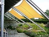 Jarolift Sonnensegel Rechteck wasserabweisend, 400 x 300 cm, sand - 3