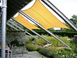 JAROLIFT Sonnensegel Rechteck Sonnenschutzsegel - wasserabweisend
