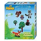 Hama 3240 - Geschenkpackung Waldtiere, ca. 2500 Bügelperlen, Stiftplatte und 2 Motivstützen
