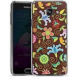 Samsung Galaxy A3 (2016) Housse Étui Protection Coque Rétro couleurs Fleurs