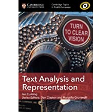 Text Analysis and Representation (Cambridge Topics in English Language)