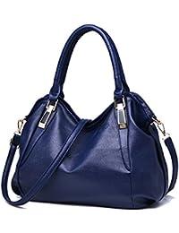 Women's PU Leather Totes Top Handle Bags Ladies Satchel Handbag Shoulder Handbags