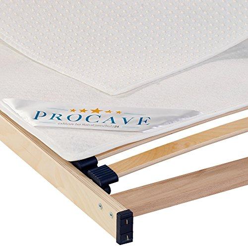 Procave - coprirete, ideale per rete a doghe, in diverse misure, traspirante, antiscivolo e lavabile, made in germany, bianco, 100 x 200 cm
