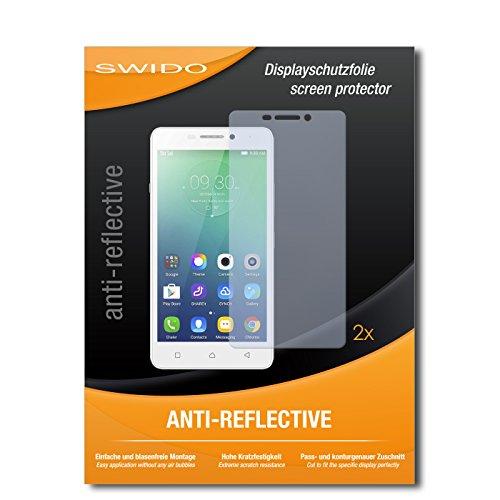 SWIDO Schutzfolie für Lenovo Vibe P1m [2 Stück] Anti-Reflex MATT Entspiegelnd, Hoher Härtegrad, Schutz vor Kratzer/Bildschirmschutz, Bildschirmschutzfolie, Panzerglas-Folie