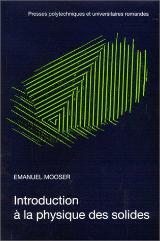 INTRODUCTION A LA PHYSIQUE DES SOLIDES