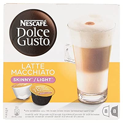 Nescafe Dolce Gusto Skinny Latte Macchiato Coffee Pods 8 Drinks - Pack of 3 (Total 48 Capsules, 24 Servings) by Nestle