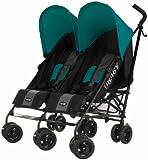 Obaby Apollo Black & Grey Twin Stroller (Turquoise)