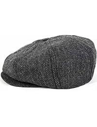Brixton Brood Ballonmütze Schirmmütze Newsboy Sportmütze - Grey