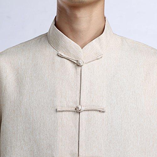 YueLian Completi Casual Uomo Pantaloni Lunghi Camicia a Maniche Lunghi Puri Camicia