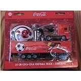 """Coca-Cola-Truck """"Fußball"""" 20 cm mit Ohr-Radio"""