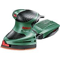 Bosch PSM 160 A - Multilijadora, 3 hojas de lija, maletín (160 W, nº de carreras en vacío 24.000 o.p.m, Ø circuito oscilante 1,6 mm)