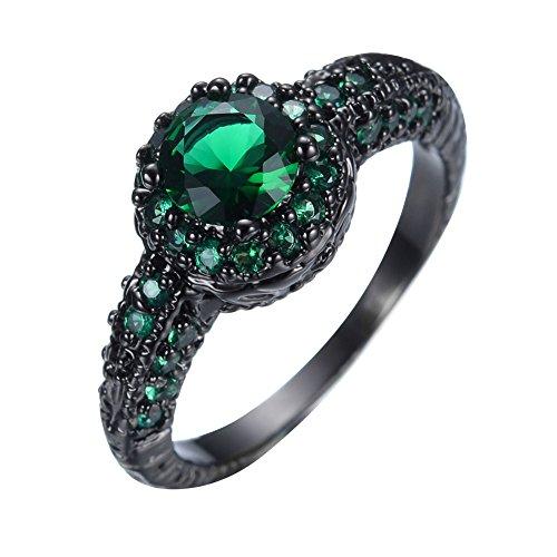 goldetes Kupfer Rundschliff   Smaragd Zirkonia  (Diamant-gewicht Papier)
