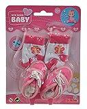 Simba 105560844 - New Born Baby Schuhe und Socken, 4-sort.