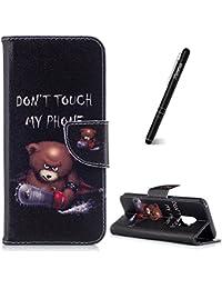 Slynmax Schutzhülle für Samsung Galaxy S9, Ledertasche Wallet Case Handyhülle für Samsung Galaxy S9 Hülle Klapphülle Lederhülle Stoßfest Handytasche Stand Kartenfächer Magnetverschluss,Telefon