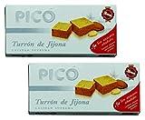 Picó - Le pack comprend 2 Turron de Crema de Almendras, Nougat mou au Crème d'Amandes Sans sucres ajoutés - Qualité Supérieure - 200gr (Sans Gluten) - (Touron)Produit Espagnol / Nougat Espagnol