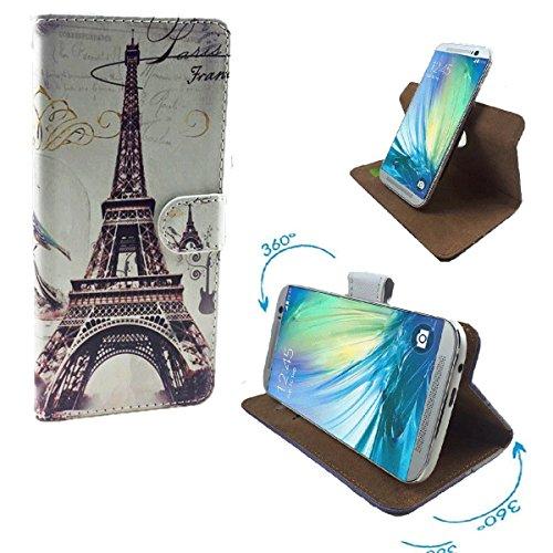 Haier Phone W861 / W867 / W858 Smartphone Tasche / Schutzhülle mit 360° Dreh und Standfunktion - 360° Eifelturn Paris 2 Nano L