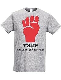 Herren-T-shirt Slim - Rage Against The Machine - Fist - Maglietta 100% baumwolle ring spun LaMAGLIERIA