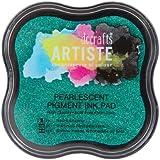 Artiste tampón de tinta, Mantis nacarante verde