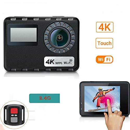 LQQZZZ WiFi Action Kamera, 30M wasserdichte Touch Action Kamera 4K 16MP Remote Ultra HD Ausrüstung Unterwasser Sport Helm Cam - 64 Mb-sdram Kit