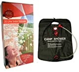 NEW 20 Litre Outdoor Portable Solar Camping Shower Camp Festival Fishing Beach