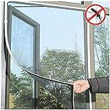 VNEIRW Fliegengitter Gaze Insektenschutz Selbstklebend Moskitonetz Mesh Design für Schiebefenster Dachfenster Fenster ca. 130 cm X 150 cm (Weiß)