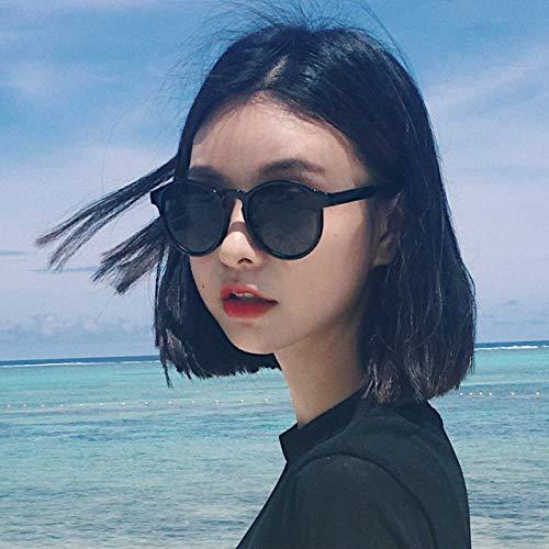 guangpeng Retro polarisierte Sonnenbrille 2019 (Polarisierter Bereich, schwarzer Rahmen