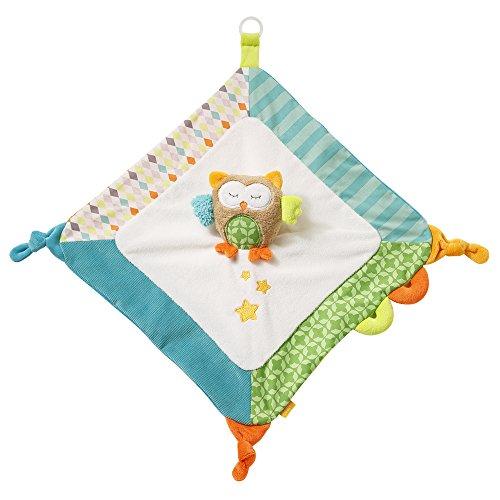 Bär-tagebuch (Fehn 071498 Schmusetuch Eule Deluxe / Stofftier-Schnuffeltuch mit Befestigungsring für Schnuller zum Greifen, Fühlen und Liebhaben für Babys und Kleinkinder ab 0+ Monaten)
