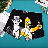 GDNSNK Marke Cartoon Boxer Unterwäsche Höschen Boxershorts Hombre Herren Unterwäsche Hosen XL (Euro Größe) Simpson