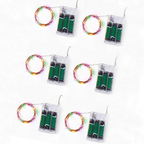 pinex luci leggiadramente della stringa -20 LED - 6.6ft filo di rame - Ambiance Illuminazione per Natale, decorazioni di festa, costumi, feste, centrotavola, vetrine o matrimoni (Milticolor)