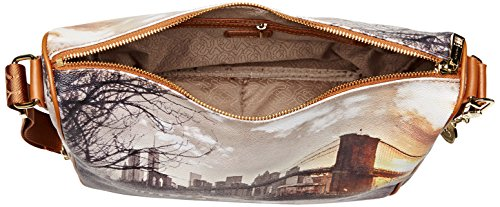 YNOT i-370, Borsa a Tracolla Donna, 31 x 24.5 x 12.5 cm (W x H x L) Multicolore (Fame in New York)