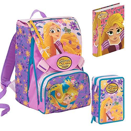 a921576e11 Schoolpack Disney Princess Rapunzel zaino + astuccio collezione 6B9001802  Seven