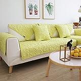 TY&WJ Doppelseitige Sofabezug Baumwolle Sofabezug Couch-abdeckungen Volltonfarbe Wasser waschen Schmutzabweisend Für Wohnzimmer Outdoor-Gelb 90x90cm(35x35inch)