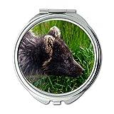 Yanteng Spiegel, Reise-Spiegel, Tier Tier Fotografie Unschärfe, Taschenspiegel, Tragbare Spiegel