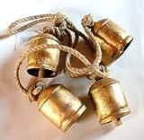 Shabby Chic Stile Country Rustico Metallo Appeso GIGANTE Mucca Campanelle