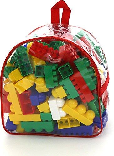 Polesie Baubau-Set im Rucksack, Polesie8022 (175 Teile) (Lego Jumbo-set)
