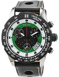 Nautec No Limit Herren-Armbanduhr XL Typhoon 2 Chronograph Quarz Kautschuk TY2-QZ-RBSTBKGR-WH