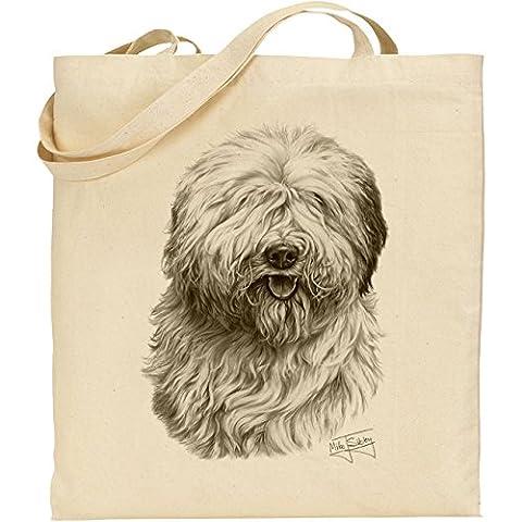 Mike Sibley Old English Sheepdog Cotton Natural Bag