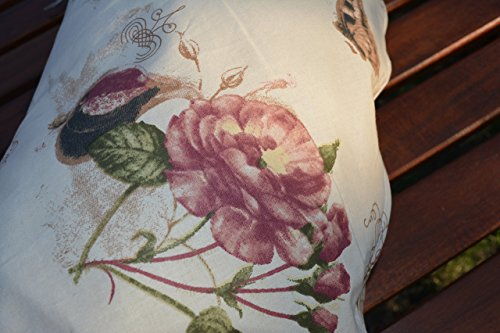 Big Nursing Pillow Miki 12 Roses on Beige